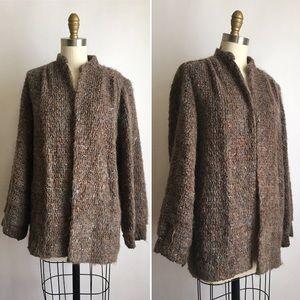 Incredible vintage speckled wool cardigan